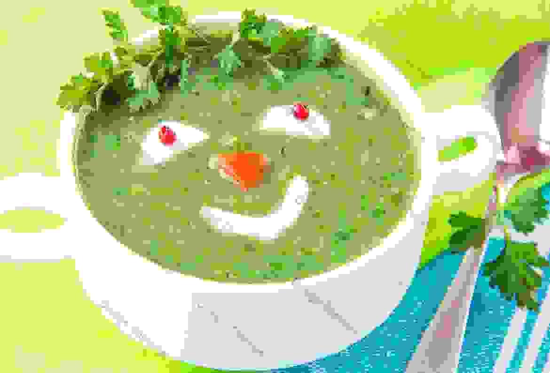 Green peas & Lettuce soup